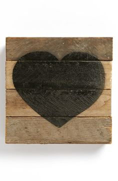 Second Nature by Hand Decorated Wood Slat Heart available at #Nordstrom. How sweet! I had no idea Nordies was selling some unique things.