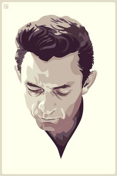 really nice vector art of the great Johnny Cash