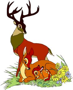 *BAMBI & HIS PARENTS ~ Bambi, Released: 1942