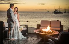A picture perfect romance, courtesy of Daniel Marion. Plan your dream destination wedding with @SandalsResorts #WeddingMoons.
