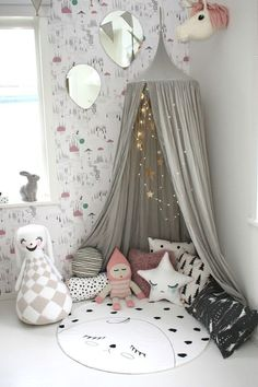 little play nook with a teepee and favorite toys