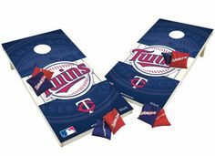 Minnesota Twins Tailgate Toss XL Shields Edition Cornhole Board & Bean Bag Set
