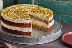 Citromos máktorta lemon curddel   Street Kitchen Tiramisu, Hamburger, Cake Recipes, Food And Drink, Mousse, Ethnic Recipes, Poppy, Easy Cake Recipes, Hamburgers