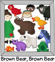 Brown Bear, Brown Bear, What Do You See: printable for felt or magnetic story boards