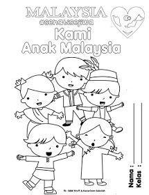 Collection of Colouring Poster for Bulan Kemerdekaan