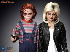�Wow! M�renlas como Chucky y su novia Tiffany. Realmente ganaron con estos disfraces, �no opinan igual?
