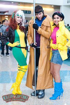 Rogue, Gambit, & Jubilee #cosplay | Comikaze 2012