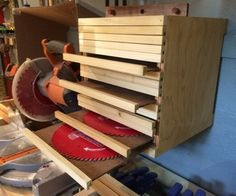 DIY Saw Blade Cabinet or alter for other tools!!