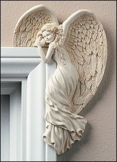 """Angel In Your Corner"" - An Angel for your home door frame! :)"