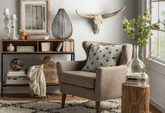 Get inspired by Modern Rustic Living Room Design photo by Wayfair. Wayfair lets you find the designer products in the photo and get ideas from thousands of other Modern Rustic Living Room Design photos. Decor, Rustic Living, Rustic Bedroom, Rustic Living Room, Modern Rustic Living Room, Rustic Living Room Design, Modern Furniture Living Room, Living Decor, Room Design