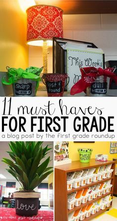 After 10 years of experience in first grade, here is my list of things you just can't live without in your first grade classroom from a minimalist's perspective!
