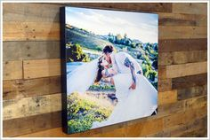 Custom Printed Wedding Anniversary Engagement Canvas Pictures
