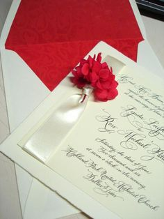 High-End Elegant Wedding Invitations | wedding red flower hydrangea scarlet elegant high end beautiful blue ...