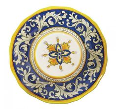 MELAMINE DINNERWARE: MALAGA BLUE PRESENTATION from Cote Sud. #plate #entertain #table #pattern #dishes