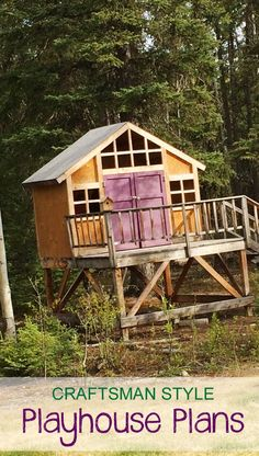 Learn how to build the ultimate outdoor playhouse! FREE plans and tutorial at Ana-White.com
