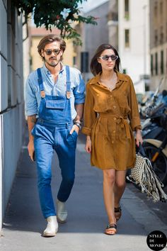 Milan Men's SS16 Street Style: Patricia Manfield & Giotto Calendoli