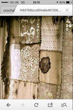 Lace shabby curtain