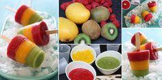 Ricette estive: facciamo i ghiaccioli di frutta tricolore