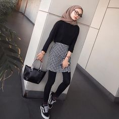 Simple muslim outfit | hijab fashion style summer