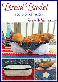 Bread basket free #crochet pattern from @jessie_athome