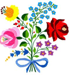 I'm considering incorporating this Hungarian flower print into the wedding cake design... Hmm.