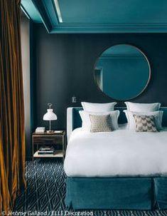 Discover the first hotel of Sarah Lavoine – decor Blue Rooms, Blue Bedroom, Bedroom Colors, Modern Bedroom, Bedroom Decor, Star Bedroom, Contemporary Bedroom, Blue Walls, Design Bedroom