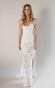 Vestido de novia en crochet fotos