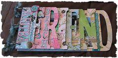 Cricut Inspired Scrapbook Layouts: Word Book Album Cricut CUT Files
