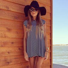 black and white light summer dress