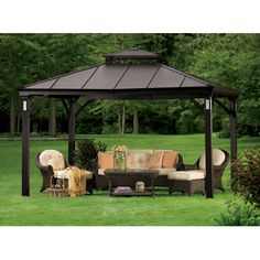 Charming Living Home Outdoors 10u0027 X 12u0027 Gazebo With Solar Lights | Outdoor |  Pinterest | Solar Lights And Gardens
