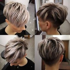 Today we have the most stylish 86 Cute Short Pixie Haircuts. We claim that you have never seen such elegant and eye-catching short hairstyles before. Pixie haircut, of course, offers a lot of options for the hair of the ladies'… Continue Reading → Funky Short Hair, Short Hair Cuts For Women, Short Hair Styles, Short Hair Undercut, Short Pixie Haircuts, Hairstyles Haircuts, Cool Hairstyles, Sassy Hair, Ombre Hair Color