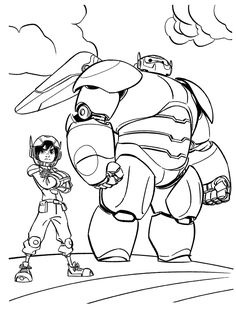 """Big Hero 6 Coloring Pages :if your kid is a fan of Baymax, then why don't give him these 25 awesome """"Big Hero 6"""" coloring pages as a present. Read on to know more"""