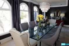 Now, that's a dining room meant for parties. A Jeff Lewis' Interior Therapy design wonder.