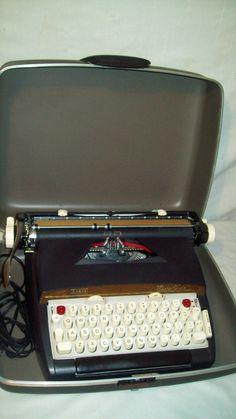 Vintage 1960's Sears Electric Twelve Typewriter - Nice Condition - Works Great!