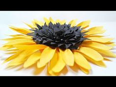 DIY paper Sunflower flower for wall backdrop decoration arts and crafts paper flowers easy for kids - YouTube