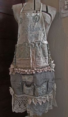 Sea Island Boho Full Woman Size Apron Tool Belt by Joanna Pierotti - you can so wear this over jeans and a plain long sleeve t.