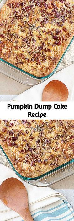 Pumpkin Dump Cake Recipe Pumpkin Dump Cake Recipe This recipe is a sure fire win for all of you pumpkin lovers! Yellow cake mix, pumpkin, butter and pecans are the ingredients that make this Pumpkin Dump Cake a favorite — and ready under an hour! Food Cakes, Cupcake Cakes, Cupcakes, Pumpkin Recipes, Fall Recipes, Pecan Recipes, Köstliche Desserts, Dessert Recipes, Dump Cake Recipes