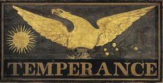 Temperance sign. Research started with death record- found occupation and moved backward to organization records and newspapers