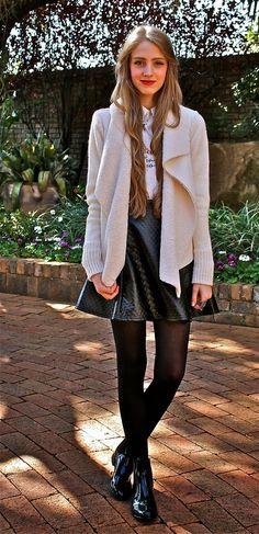Fashionable Passion: Shearling Cardigan