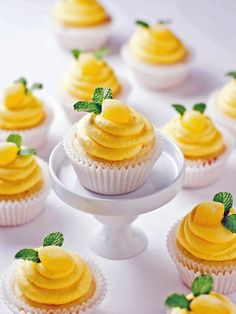 This light and fluffy cake recipe is topped with Limoncello buttercream frosting. YUM! (http://www.hgtv.com/holidays-and-entertaining/lemon-cupcakes-recipe/index.html?soc=Pinterest)