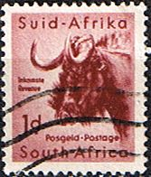 South Africa 1959 Wild Animals SG 171 Wildebeest Fine Used SG 152 Scott 222 Condition Fine Used Only one post charge applied on Vintage Stamps, Vintage Ads, Stamp World, Vacation Scrapbook, Stamp Collecting, South Africa, Kombucha, Famous Brands, Wild Animals