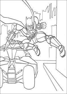 Batman Flying Into Action Coloring Sheet