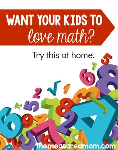 We all want our kids to love math, right? Try these simple ideas for making math fun at home. It's a great collection of math activities for kindergarten, first, and second grade.