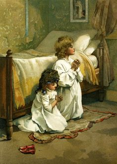 Lizzie Lawson (1867 – 1902, English)  Children Praying