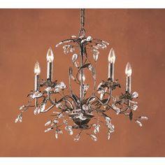 Westmore Lighting 5-Light Circeo Deep Rust Chandelier