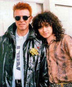 David Bowie with Marc Bolan