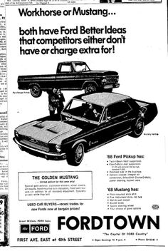 1968 Mustang Newspaper History