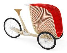 Après B2O, le studio de design Fritsch et Durisotti propose ce triporteur, également en bambou. L'éco-conception est une des caractéristiques importantes de ce projet : les matériaux tout d'abord, le bambou étant renouvelable, tout comme le liège de la selle ou encore le rotin constituant la nacelle. Celle-ci est capable de transporter deux enfants ou …