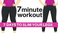 7 DAY CHALLENGE - 7 MINUTE WORKOUT TO SLIM YOUR LEGS - HOME WORKOUT TO L...