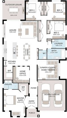 Tiny House Plans 365565694755747631 - Good layout for master, powder room, dining and pantry Source by frdricmasson 4 Bedroom House Plans, Family House Plans, New House Plans, Dream House Plans, House Floor Plans, House Layout Plans, House Layouts, Flur Design, Interior Design Minimalist